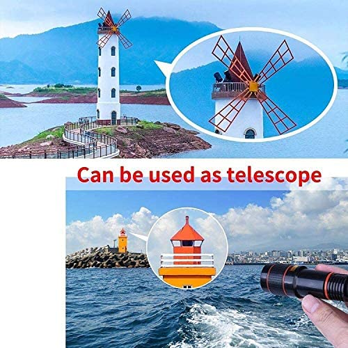 Pocket Zoom Hd Pixel Pro Pack, Cell Phone Camera Lens Kit, 12x Zoom Telephoto Lens, Clip on Phone Lens (black, 2pcs)
