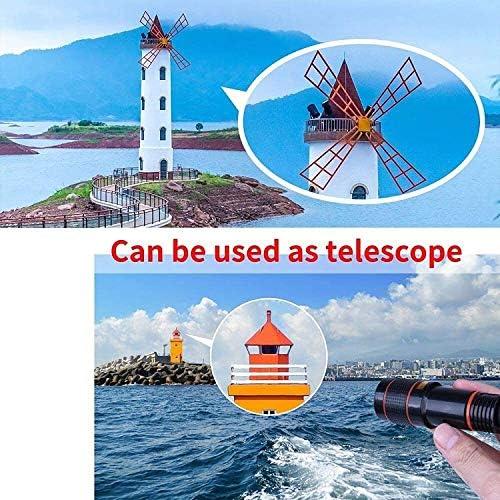 Pocket Zoom Hd Pixel Pro Pack, 12x Zoom Telephoto Lens, Cell Phone Camera Lens Kit, Clip on Phone Lens, Tripod Shutter Remote Lens (black, 2pcs)