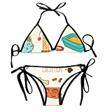 Charming Women's Cute Animals with Accessories Sweet Bralette Set