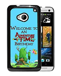 New Fashion Custom Designed Cover Case For HTC ONE M7 With Adventure Time 1 Black Phone Case