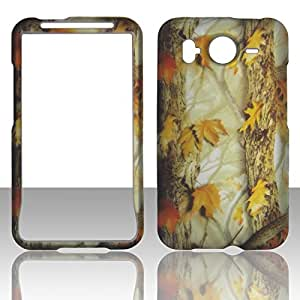 2D Camo Yellow HTC Inspire 4G, Desire HD G10 (UK, Canada) AT&T Case Cover Hard Phone Case Snap-on Cover Rubberized Touch Faceplates