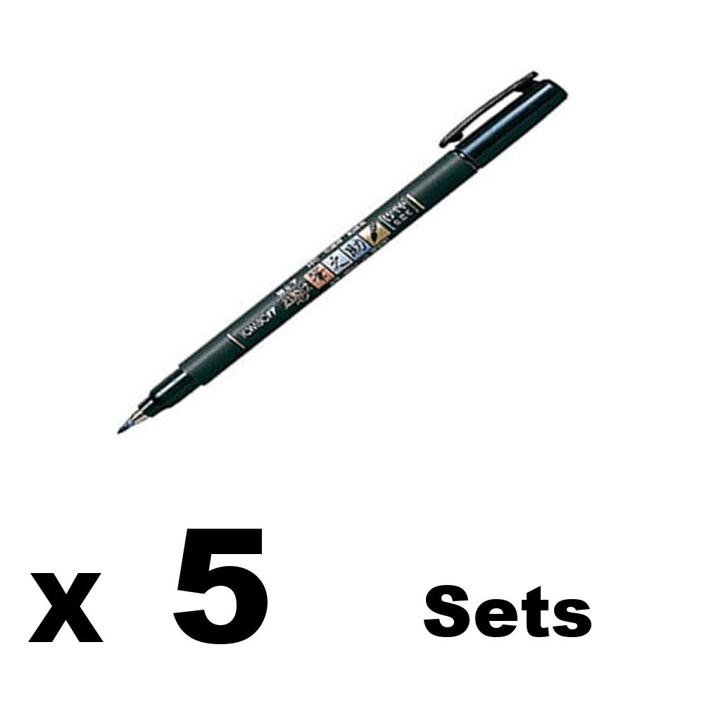 Soft Type 5 Pens Value set Tombow Fudenosuke Brush Pen