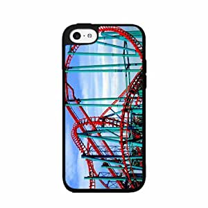 Rollercoaster - TPU Rubber Silicone Phone Case Back Cover (iphone 5c) includes diy case Cloth and Warranty Label