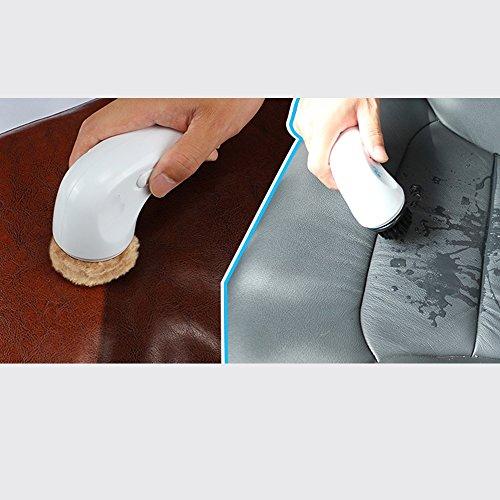 ZZHF Cireuse à chaussures Cireuse automatique à chaussures Cireuse électrique à main Cireuse à chaussures Section de chargement blanc 24,8 * 25 * 9,8 cm Cireuse