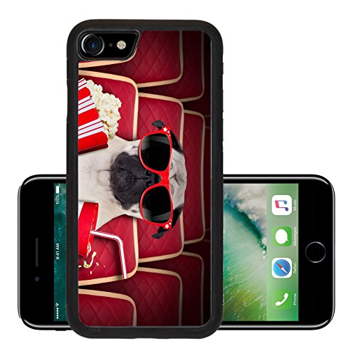 Liili Premium Apple iPhone 7 iPhone7 Aluminum Backplate Bumper Snap Case IMAGE ID 33657235 dog watching a movie in a cinema theater with soda and popcorn wearing glasses (Soda Boxers compare prices)