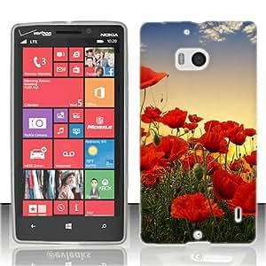 For Nokia Lumia Icon 929 Poppy Flowers plastic cover case