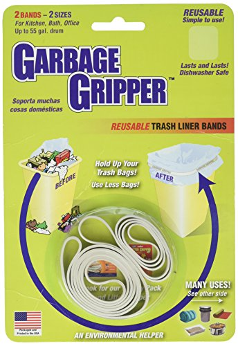 Garbage Gripper Band, 1 Pack of 2 Bands (Bands Rubber Garbage Cans For)