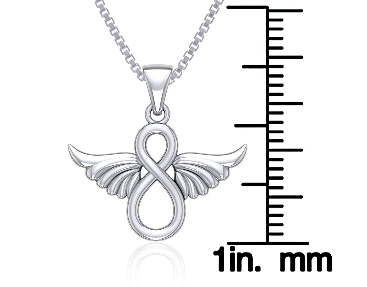 Jewelry Trends Trinity Knot Angel Wing Sterling Silver Pendant Necklace 18