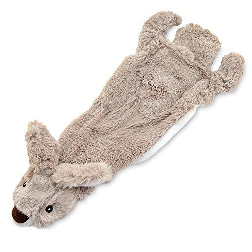 Best Pet Supplies 2-in-1 Fun Skin Stuffless Dog Squeak Toy, Small, Hare