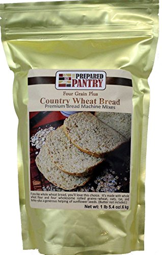 The Prepared Pantry Four Grain Country Wheat Bread Machine Mix, 21.4 Ounce ()