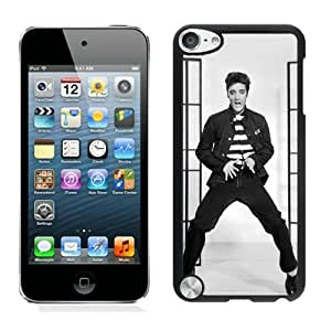 Elvis Presley Black iPod Touch 5 Phone Case Grace and Beautiful Protective