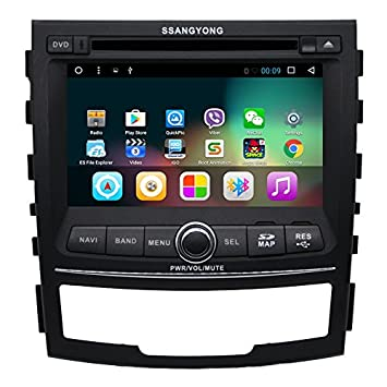 ancluu 7 Inch Quad Core Android 6.0 coche DVD para Ssangyong ...