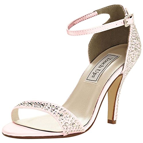 Dyeable Crystal Embellished Sandal by Touch Ups Style RENA Petal bnyHF