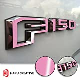 ford truck f150 pink emblem - Haru Creative - Ford F-150 (2015 2016 2017) Fender Side Door Letter Insert Overlay Vinyl Emblem Decal - Gloss Pink