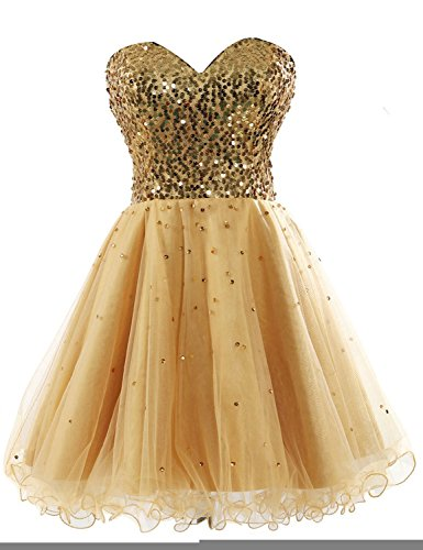 Kleid Kleid Fanciest Party Gold Cocktail Kleides Formelle Sequin Kurz Women's Homecoming TF0q1