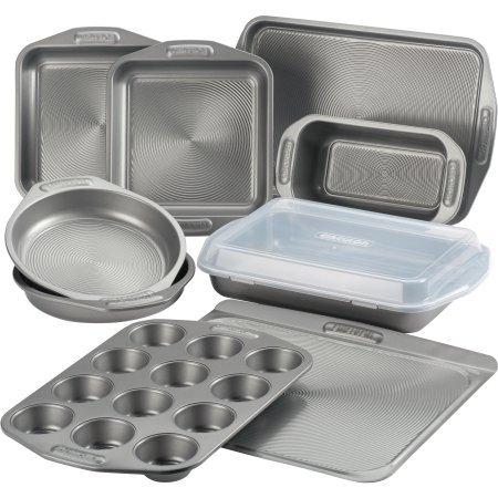 Circulon(r) Total(tm) Nonstick Bakeware Set, 10-Piece, Gray