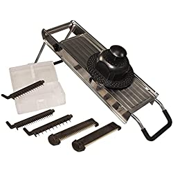 Weston Products Safety Stand Mandolin Slicer, Black