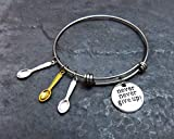 Spoon Theory Stainless Steel Expandable Charm Bracelet