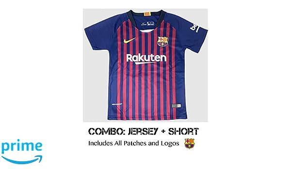 Amazon.com : Barcelona Soccer Jersey Kids on Season 2019 ...