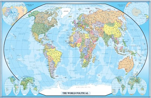 30x42 World Classic Wall Map product image