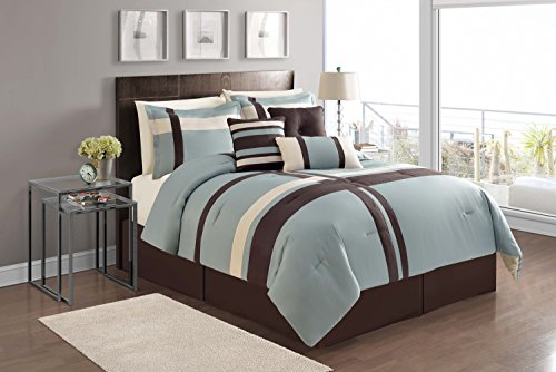 Chocolate Blue Comforters - 8