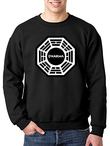 New Way 904 - Crewneck Dharma Initiative Research Project Lost Unisex Pullover Sweatshirt Medium Black