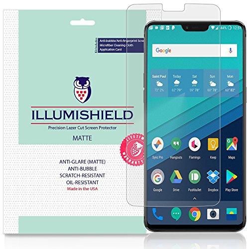 iLLumiShield Matte Screen Protector Compatible with OnePlus 6 (3-Pack) Anti-Glare Shield Anti-Bubble and Anti-Fingerprint PET Film
