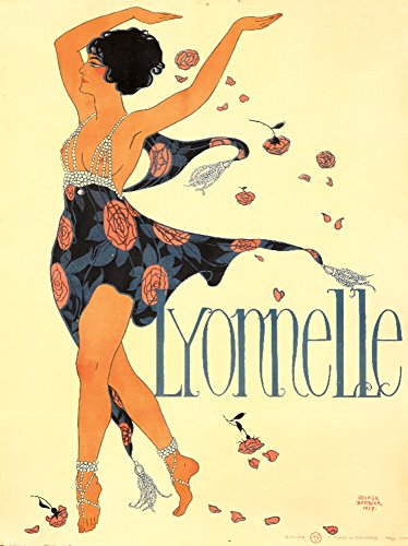 Lyonnelle Vintage Poster (artist: Georges Barbier) France c. 1917 (36x54 Giclee Gallery Print, Wall Decor Travel Poster) ()