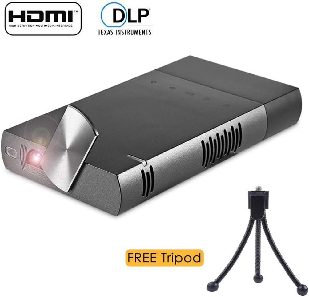 ZIHENGUO Mini proyector DLP, Pico Home Video Projector 854 * 480P ...