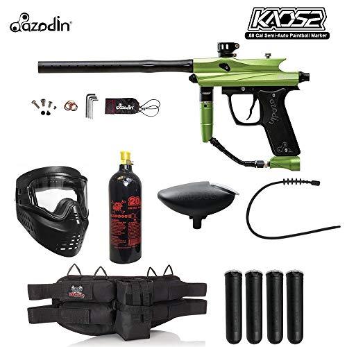 MAddog Azodin KAOS 2 Silver Paintball Gun Package - Green/Black