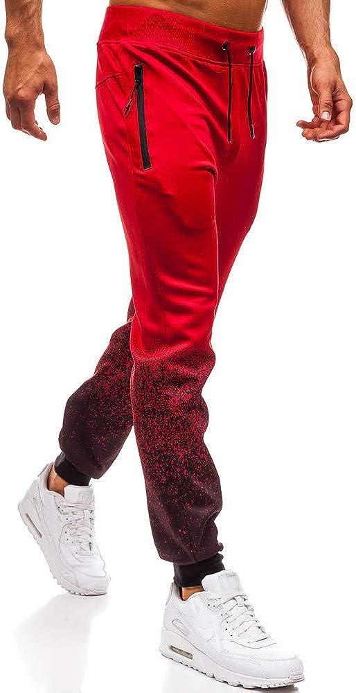 Sylar Pantalones De Hombre Chandal Tallas Grandes Moda Gradiente Slim Fit Bolsillo Pantalones Casuales Pantalones Deportivos Pantalones De Fitness Pantalones Y Monos Para La Nieve