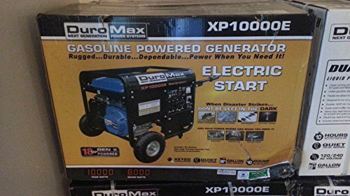 duromax-xp10000e-10000-watt-16-hp-ohv-4-cycle-gas-powered-portable-generator-with-wheel-kit-and-elec