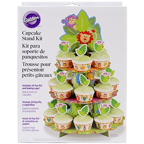 - Wilton 1510-7768 Jungle Pals Cupcake Stand Kit- Discontinued By Manufacturer