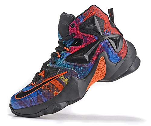 travenn Men's Lebron XIII Shoes Lebron 13 Basketball Shoes - Dark Knight