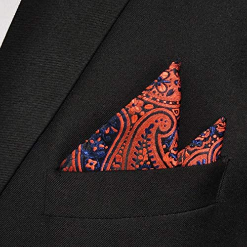 Purple shlax/&wing Mens Pocket Square 12.6 inches Blue Maroon Hanky L