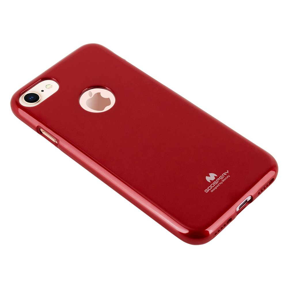 Goospery Marlang Iphone 8 Case Red Free Plus Pearl Jelly Mint Screen Protector Slim Fit Tpu Flexible Protection Bumper Cover For