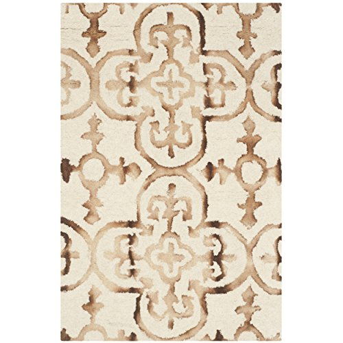 Hand Tufted Camel (Safavieh Dip Dye Collection DDY711E Handmade Moroccan Geometric Watercolor Ivory and Camel Wool Area Rug (2' x 3'))