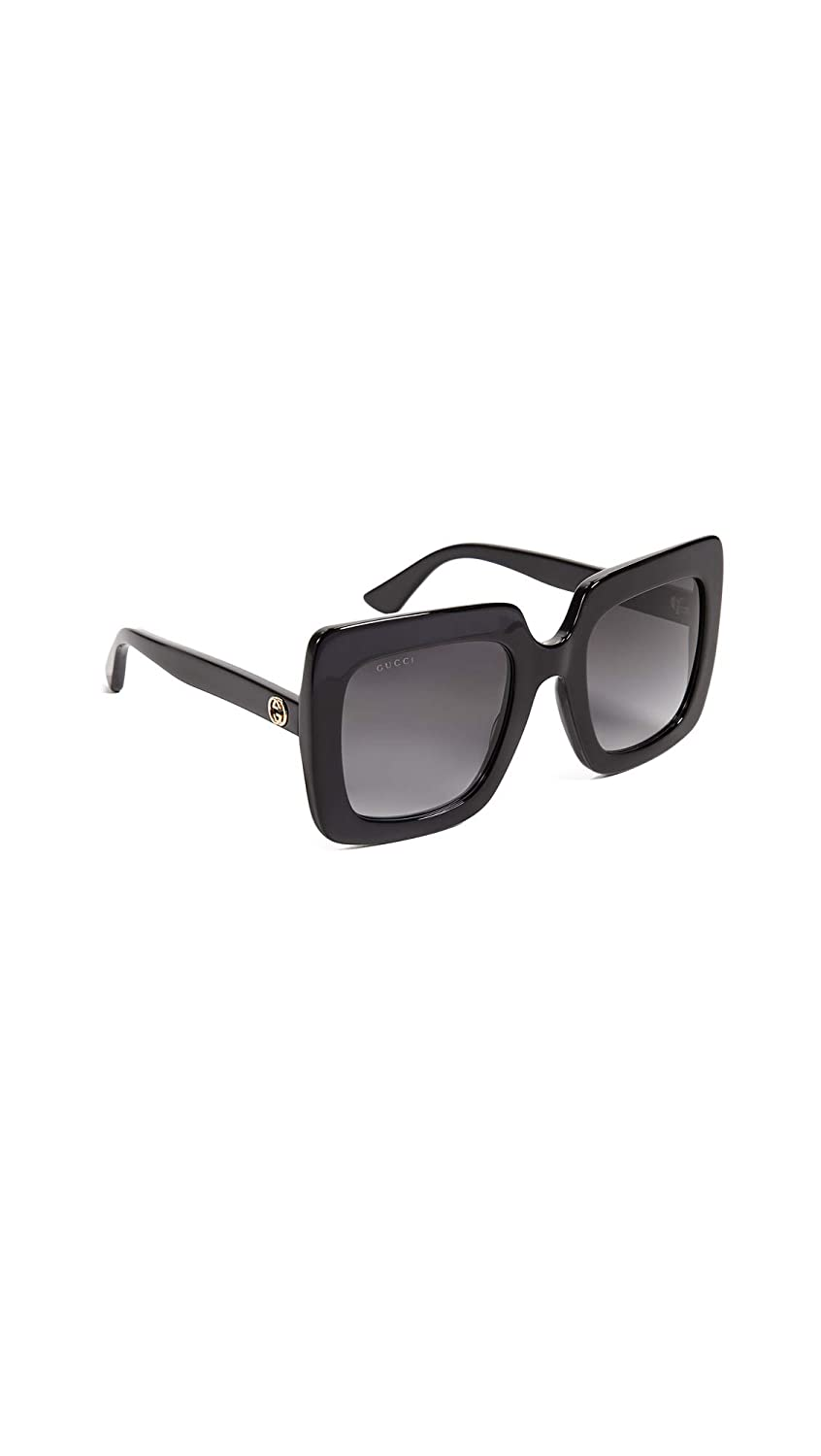 d449cb54b0 Amazon.com  Gucci GG0328S 001 Black GG0328S Square Sunglasses Lens Category  3 Size 53mm  Gucci  Clothing