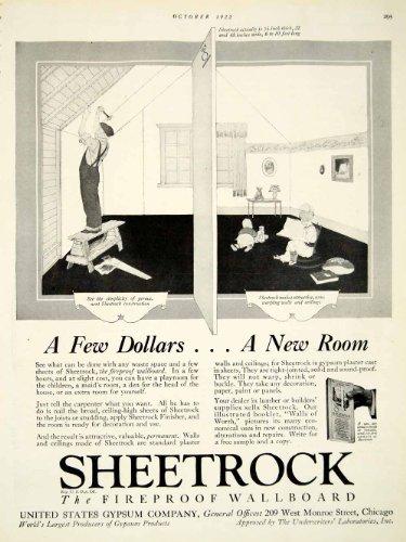 1922-ad-sheetrock-fireproof-wallboard-209-west-monroe-street-chicago-gypsum-wall-original-print-ad