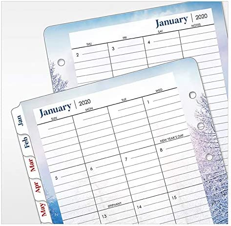 Jan 2020 FranklinCovey Compact Seasons Weekly Ring-Bound Planner Dec 2020