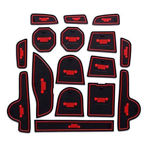 ReFaXi 16PCS Floor Mat Door Mat Accessories Rubber Protector for Jeep Renegade 20162017