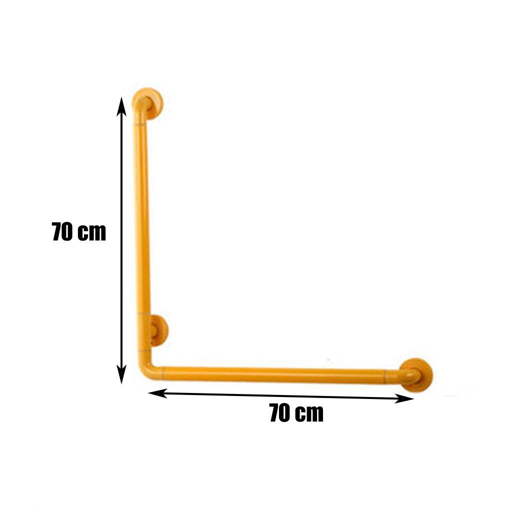 BSNOWF アクセス可能な手すりバスルームL型多目的手すり高齢者障害者の補助手すり壁掛け ( 色 : イエロー いえろ゜ , サイズ さいず : 70センチメートル ) B07BKYDQJJ 70センチメートル イエロー いえろ゜ イエロー いえろ゜ 70センチメートル