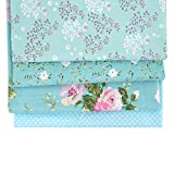 cloth material for sewing - Aisa 50x50cm Blue Series Fabric Bundles Flower Printed Cotton Fabric Comfortable Patchwork Fabric Home Textile Material Cloth for Sewing