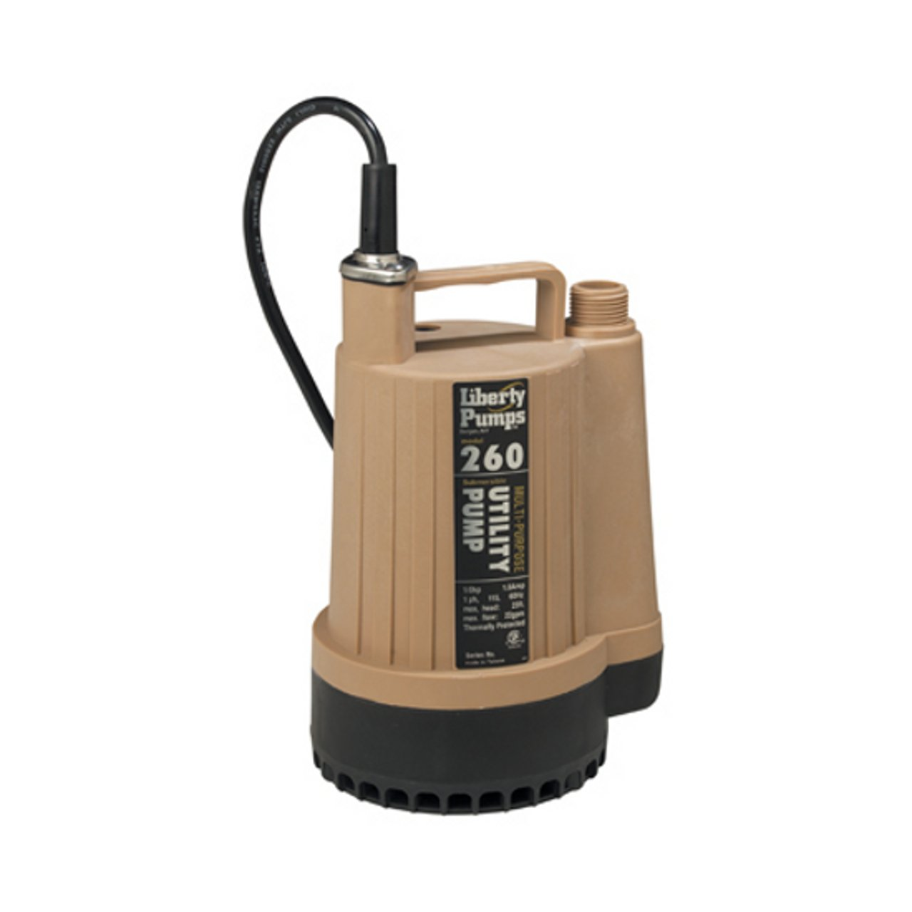 Liberty Pumps 260 1/6-Horse Power 3/4-Inch Discharge Submersible Utility Pump
