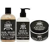 "Uncle Jimmy Hair, Beard & Body Wash + Body Lotion + Curl Kicker ""Set"""