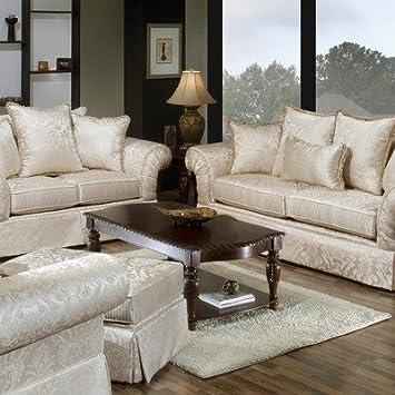 Astonishing Amazon Com Rose Hill Furniture 2840 3 6025 10 Regency Sofa Machost Co Dining Chair Design Ideas Machostcouk