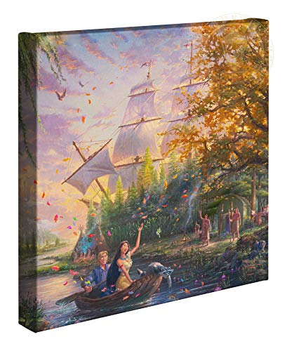 Thomas Kinkade Studios Disney Pocahontas 14 x 14 Gallery Wrapped Canvas ()