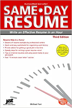 same day resume 3rd ed write an effective resume in an hour same day resume write an effective resume in an hour