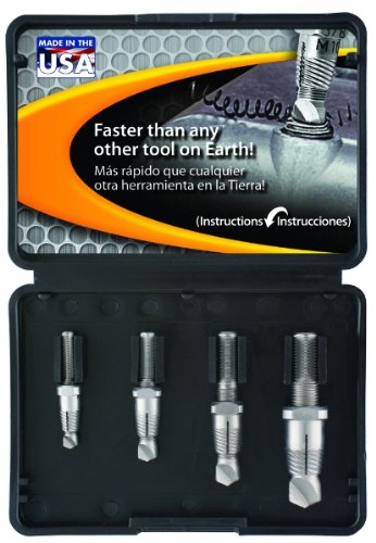 Alden 4017P Grabit Drill-Out Double Ended Bolt Extractor Kit, 4 Piece ()