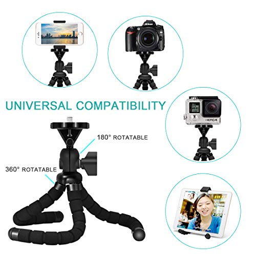 Remote Samsung Camera Tripod Canon Flexible Phone StandCompatible with iPhone and Any Mobile Phone Portable Mini Phone Stand Google Smartphones Android
